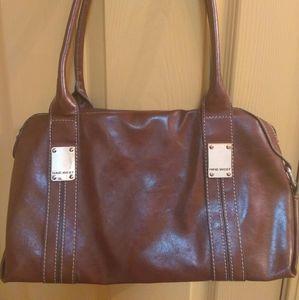 Nine West brown leather handbag